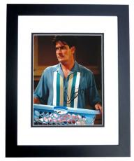 Charlie Sheen Autographed Two and a Half Men 8x10 Photo BLACK CUSTOM FRAME