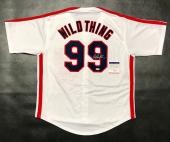 CHARLIE SHEEN AUTOGRAPHED WILD THING JERSEY with PSA ITP COA #8A30022 INDIANS