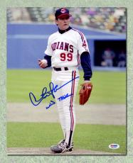 Charlie Sheen Autographed Wild Thing Major League 11x14 Photo: PSA/DNA