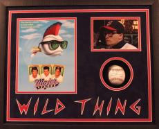 """Charlie Sheen Autographed/Signed Baseball & """"Wild Thing"""" Shadow Box (PSA/DNA)"""