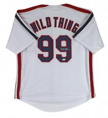 Charlie Sheen Major League Signed Wildthing Jersey BAS Witnessed