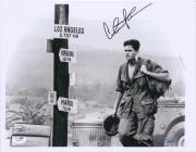"Charlie Sheen Platoon Autographed 11"" x 14"" Photograph - JSA"