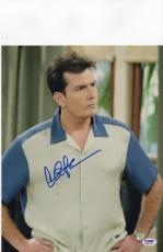 CHARLIE SHEEN SIGNED 11 x 14 PHOTO PICTURE AUTOGRAPHED PSA/DNA