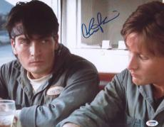 Charlie Sheen Signed 11x14 Photo Autographed Psa/dna Itp 4a11770
