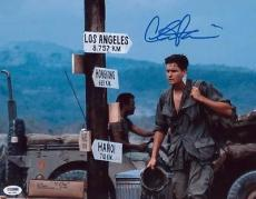 Charlie Sheen Signed 11x14 Photo Autographed Psa/dna Itp 4a11893