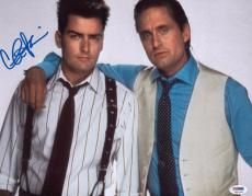 Charlie Sheen Signed 11x14 Wall Street Photo Autographed Psa/dna Itp 4a11454