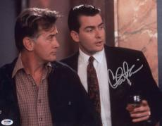 Charlie Sheen Signed 11x14 Wall Street Photo Autographed Psa/dna Itp 4a11607