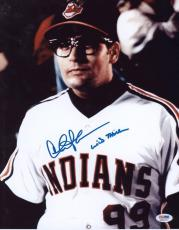 "Charlie Sheen Signed 11x14 ""wild Thing"" Photo Major League Psa Itp"