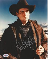 CHARLIE SHEEN Signed 8 x10 PHOTO with PSA/DNA COA