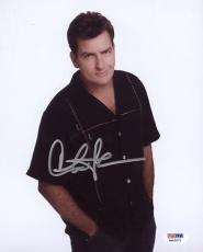 Charlie Sheen Signed 8x10 Photo Autographed Psa/dna Itp 3a92071