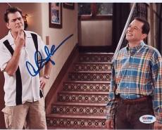 Charlie Sheen Signed 8x10 Photo Autographed Psa/dna Itp 3a92226