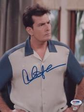 Charlie Sheen Signed 8x10 Photo Autographed Psa/dna Itp 3a92513