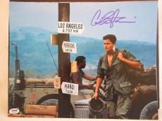 CHARLIE SHEEN SIGNED AUTO 11x14 PHOTO  PSA/DNA ITP 1Q