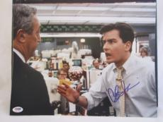 CHARLIE SHEEN SIGNED AUTO 11x14 PHOTO  PSA/DNA ITP 1Q WALL STREET