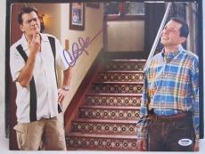 CHARLIE SHEEN SIGNED AUTO 11x14 PHOTO  PSA/DNA ITP 2 1/2 MEN