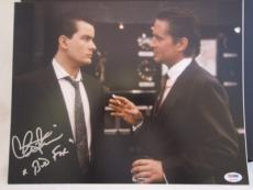 "CHARLIE SHEEN SIGNED AUTO 11x14 PHOTO  PSA/DNA ITP ""BUD FOX"" WALL STREET RARE S"