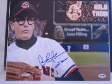 "CHARLIE SHEEN SIGNED AUTO 11x14 PHOTO  PSA/DNA ITP INSCRIBED ""WILD THING"" Z"