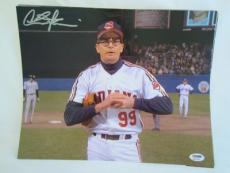 CHARLIE SHEEN SIGNED AUTO 11x14 PHOTO  PSA/DNA ITP MAJOR LEAGUE 1