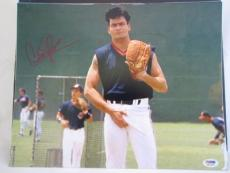 CHARLIE SHEEN SIGNED AUTO 11x14 PHOTO  PSA/DNA ITP MAJOR LEAGUE 1A
