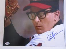 CHARLIE SHEEN SIGNED AUTO 11x14 PHOTO  PSA/DNA ITP MAJOR LEAGUE 32AB