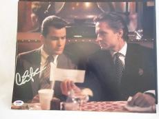 CHARLIE SHEEN SIGNED AUTO 11x14 PHOTO  PSA/DNA ITP Q WALL STREET MICHAEL DOUGLAS