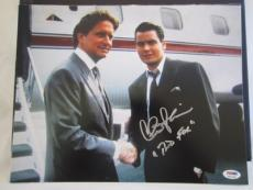 "CHARLIE SHEEN SIGNED AUTO 11x14 PHOTO  PSA/DNA ITP SCRIBED ""BUD FOX"" WALL STREET"