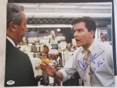 "CHARLIE SHEEN SIGNED AUTO 11x14 PHOTO  PSA/DNA ITP SCRIBED BUD FOX"" WALL STREET"