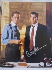 CHARLIE SHEEN SIGNED AUTO 11x14 PHOTO  PSA/DNA ITP W WALL STREET MICHAEL DOUGLAS