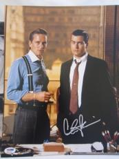 CHARLIE SHEEN SIGNED AUTO 11x14 PHOTO  PSA/DNA ITP WALLSTREET MICHAEL DOUGLAS 12