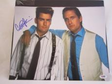 CHARLIE SHEEN SIGNED AUTO 11x14 PHOTO  PSA/DNA ITP WALLSTREET MICHAEL DOUGLAS