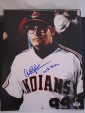 "CHARLIE SHEEN SIGNED AUTO 11x14 PHOTO  PSA/DNA ITP ""WILD THING INSCRIBED MAJOR"