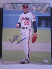 "CHARLIE SHEEN SIGNED AUTO 11x14 PHOTO  PSA/DNA ITP ""WILD THING"" INSCRIBED MAJOR"