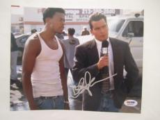 Charlie Sheen Signed Auto 8x10  Psa/dna Itp Chris Tucker Money Talks