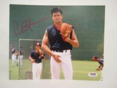 Charlie Sheen Signed Auto 8x10  Psa/dna Itp Major League 7011