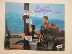 Charlie Sheen Signed Auto 8x10  Psa/dna Itp Platoon 70
