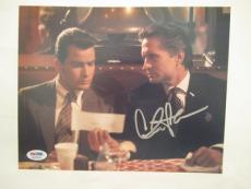 Charlie Sheen Signed Auto 8x10  Psa/dna Itp Wall Street 32