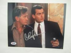 Charlie Sheen Signed Auto 8x10  Psa/dna Itp Wall Street 34