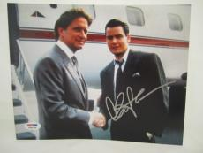 Charlie Sheen Signed Auto 8x10  Psa/dna Itp Wall Street 37