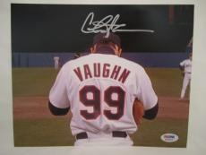 Charlie Sheen Signed Auto 8x10  Psa/dna Itp Wild Thing Vaughn Major League