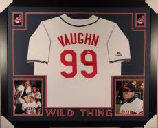 Charlie Sheen Signed Autographed Framed Cleveland Indians Jersey  Psa #3a91603
