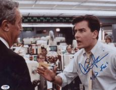 "Charlie Sheen Signed ""bud Fox"" 11x14 Photo Autographed Psa/dna Itp 4a11951"
