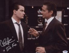 "Charlie Sheen Signed ""bud Fox"" Inscribed 11x14 Photo Autographed Psa Itp"