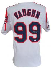 Charlie Sheen Signed Custom Major League Rick Vaughn Baseball Jersey PSA