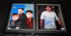Charlie Sheen Signed Framed 12x18 Photo Set JSA 2 1/2 Men