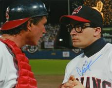 Charlie Sheen Signed Indians 'Major League' Pitcher Catcher Meeting At Mound With Tom Berenger 16x20 Photo