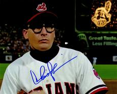 Charlie Sheen Signed Indians 'Major League' Wild Thing Wearing Glasses Close Up 8x10 Photo