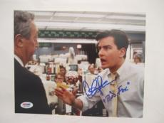 "Charlie Sheen Signed Inscribed ""bud Fox"" Wall Streeet Auto 8x10  Psa/dna Itp"