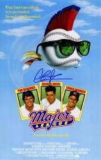 Charlie Sheen Signed Major League 11x17 Movie Poster