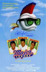 Charlie Sheen Signed Major League 11x17 Movie Poster w/Vaughn
