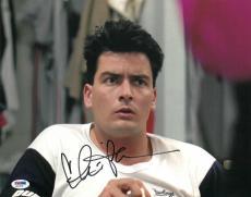 Charlie Sheen Signed Major League Authentic 11x14 Photo PSA/DNA #Q31076